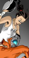 Chell Book Mark by SemajZ
