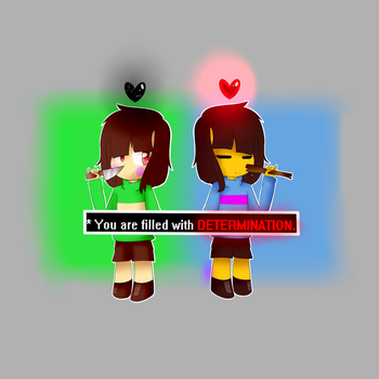Chara And Frisk by ShadowSlayer766