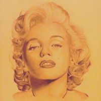 Marilyn Monroe Portrait by AkidnamedLon