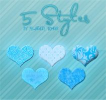 +5 Blue Styles [By PilarEditions9) by PilarEditions9