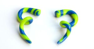 Polymer Twisted Gauges in Blue and Green 001 by Dabstar