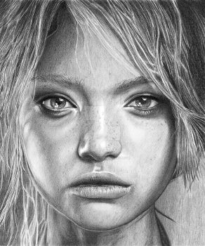 Pencil drawing by cyrille-breuil