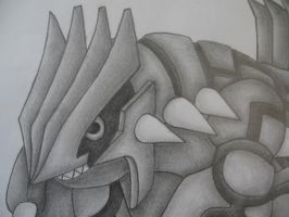 Groudon Drawing- Close up by sazmullium