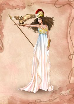 Greek Goddess Athena by BasakTinli