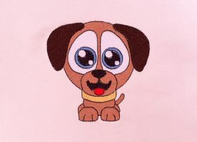 Embroidery design Little dog by Kavel-WB