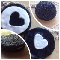 Oreo Inspired Friendship Necklace by Love-Demon