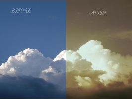THE BEFORE AND THE AFTER OF CLOUDS by TOVARDAMASO