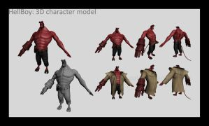 HellBoy 3d character model by palp