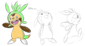 DD13 - 5 - Chespin Sketchin' by McKnackus