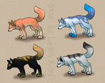 Fox Adopts (15 Points Each) .:OPEN:. by Shadowhawk-Adopts