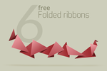 Free vector Folded ribbons by outlinez
