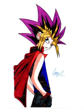 Colored vamp Yami with cape by xMystery21x