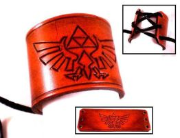 Zelda Triforce Leather Cuff by Skinz-N-Hydez