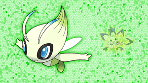 Celebi and Pichus Wallpaper (V2) by Glench
