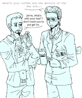 Tony / Jarvis by ASAMESHII