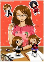 Seto,Shinn,Me and Mini Me's xD by KazumiAkai