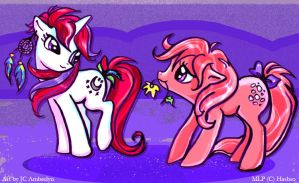 My Little Pony Moondancer and Cotton Candy FIM by WolfWhiskers