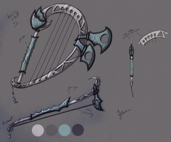 Aion Bard Weapon Contest Design: Bass Clef by Zephyr-Aryn