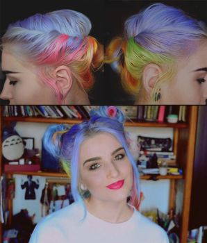 DIY: 3 EASY, MESSY AND FUN HAIRSTYLES by Cuilwarthien666