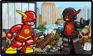 Lego Flash vs Reverse Flash New 52 by Pusskyfly
