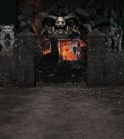 Gate to Hell Background by mysticmorning