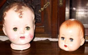 Antique Doll Heads 3 by Falln-Stock