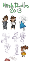 March Doodles 2013 by TopperHay