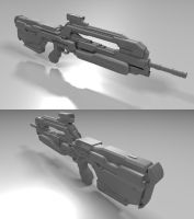 WIP - Halo 4 Battle Rifle LOD1 by borysked