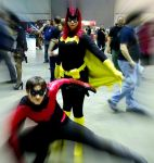 Nightwing and Batgirl by KatieKatt11593