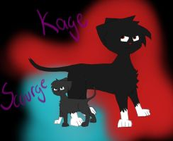 Kage and Scourge by Saberstar1