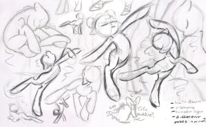 Ballet pony sketches by LittleTiger488