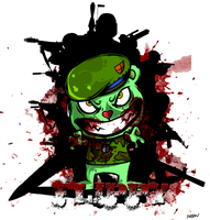 flippy of happy tree friends by lukasimajan
