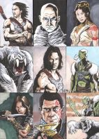 John Carter movie Sketch Cards by tedwoodsart