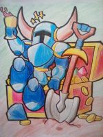 Shovel Knight and his riches by PKstarship