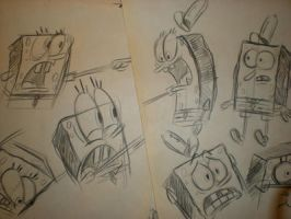 SPONGEBOB sketches! 002 by brianpitt
