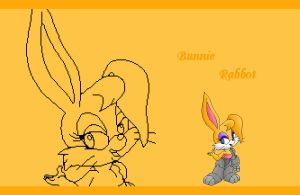 Bunnie Rabbot wallpaper by DawntheHedgie