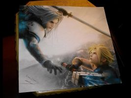 Sephiroth vs Cloud by SamAnimeMangaFR