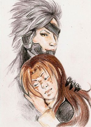 Traditional Aceo- Aurora and Raiden by Lilith-the-5th