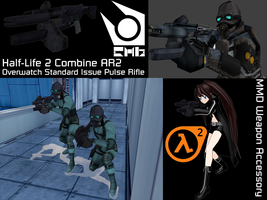 MMD Weapon Accessory - Half-Life 2 Combine AR2 by StealthLazarusOfNod