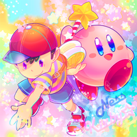 NESS and KIRBY by modanspank