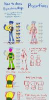 Equestria Boys Tutorial: Proportions by Kanduli