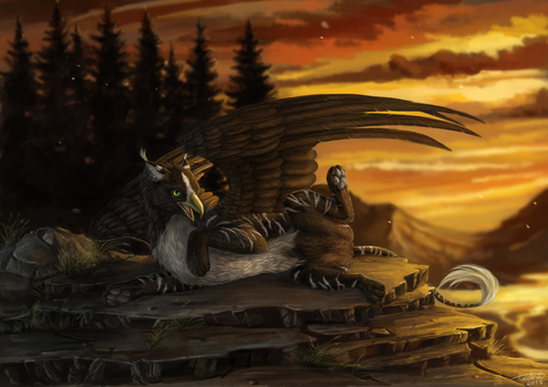 Gryphon Commission by x-Celebril-x