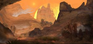Two Suns Exterior by JackEavesArt