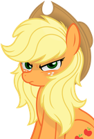 Applejack -Hair Down- by Godoffury