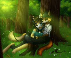 Together in the Woods by GhostNyght