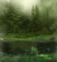 Misty River background by moonchild-lj-stock