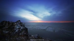 Qinghai Lake Sunrise I by zhangzongzheng