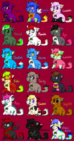 Xmas Adoptables 2008 Part 1 by taximals
