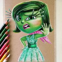 Disgust Drawing - Inside Out Fan Art by LethalChris