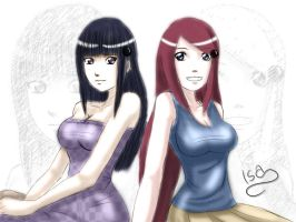 Hinata and Kushina by baster037